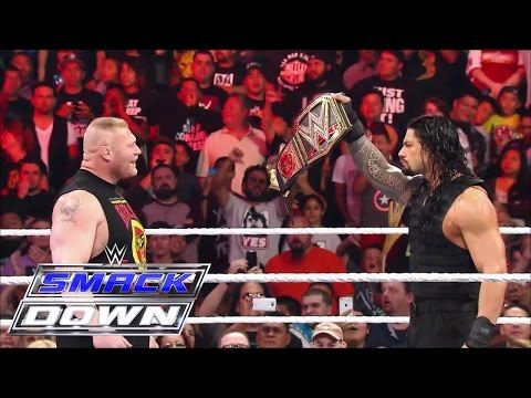 Relive the buildup to Brock Lesnar's clash against Roman Reigns: SmackDown, March 26, 2015