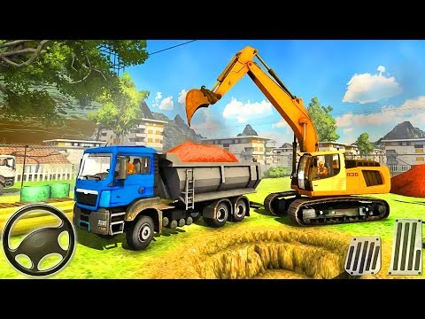 Real Construction Simulator 2018 | Construction Vehicles: Excavator, Dump Truck | Android GamePlay