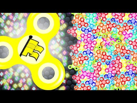1 fidget spinner vs 1.000.000 mini FIDGET SPINNERS! (MAX RPM) (Superspin.io world record)