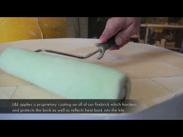 Proprietary Brick Facing & Hardening for L&L Kilns