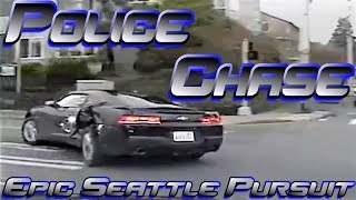 *New*. Seattle CarJacker Pursuit From 2015 *Dashcam Released. Full Chase*