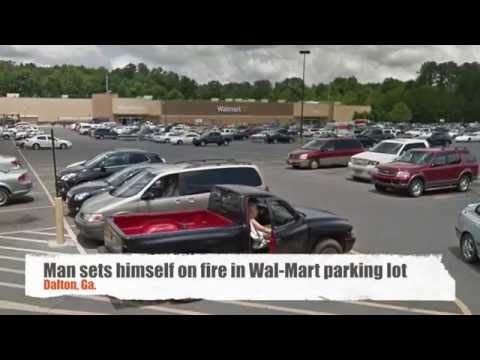 Man sets himself on fire at Walmart in Dalton, Ga., allegedly