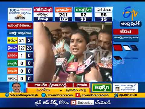 2019 Election Results | Roja Wins From Nagari | Responds on Iron leg Comments