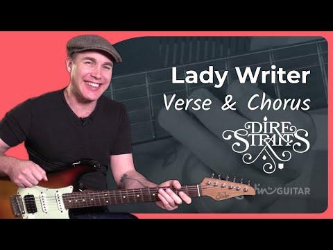 Lady Writer - Dire Straits [VERSE & CHORUS] 2of4- Mark Knopfler Guitar Lesson Tutorial (ST-363))