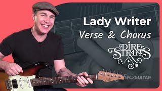 Lady Writer - Dire Straits [VERSE & CHORUS] 2of4- Mark Knopfler Guitar Lesson Tutorial (ST-363))