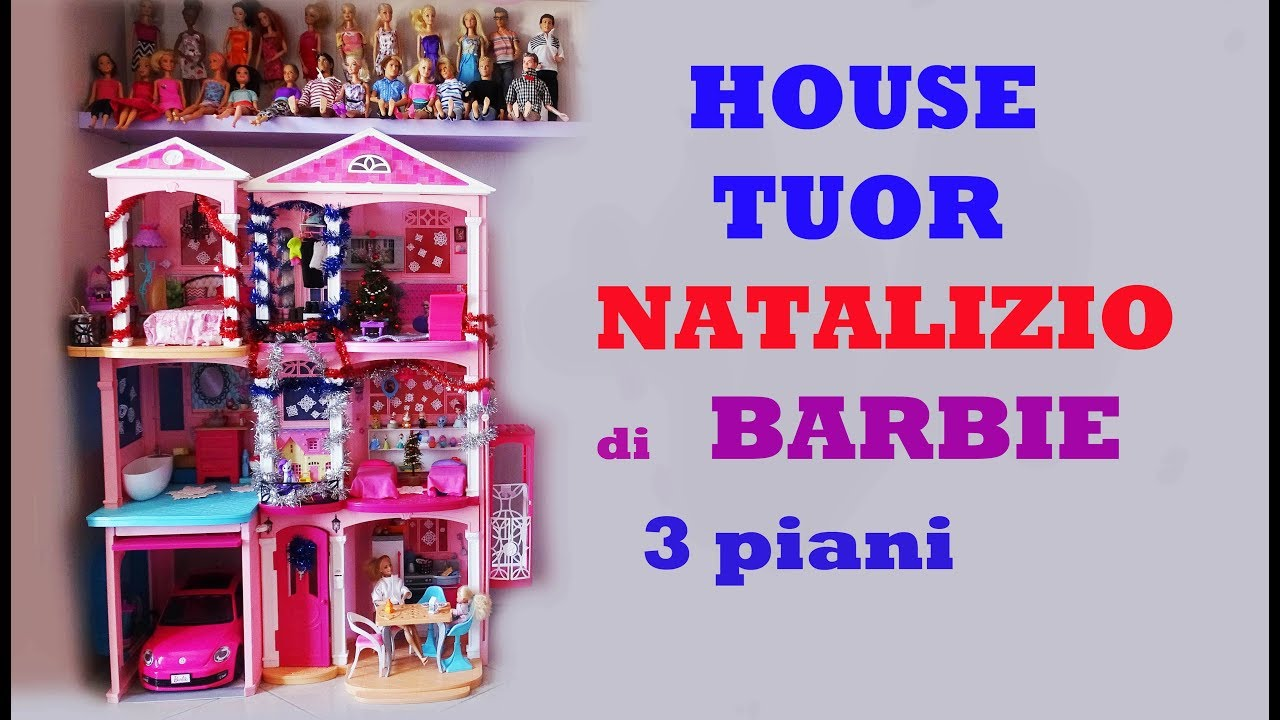 House tour natalizio casa di barbie 3 piani ep 30 for Piani di casa tridimensionali