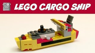 LEGO CARGO SHIP 3 IN 1 CREATOR