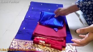 Paithani saree designer back neck blouse| Cutting and stitching back neck