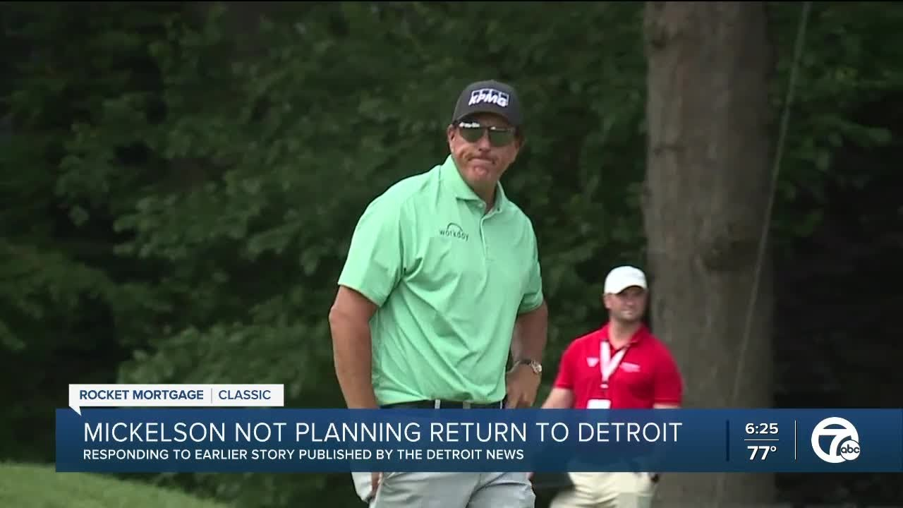 Phil Mickelson Says He Won't Come Back to Detroit After Detroit ...