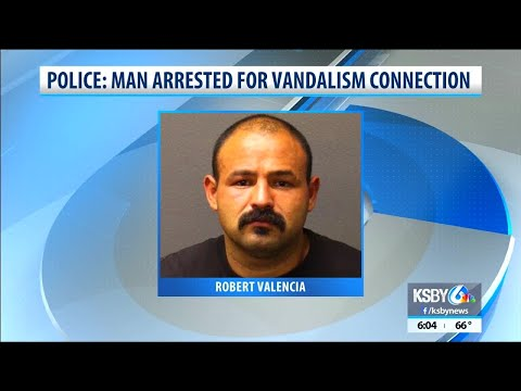 Vandal arrested in Santa Maria thanks to good surveillance video