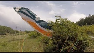 40 km/h wind COLLAPSE LANDING!