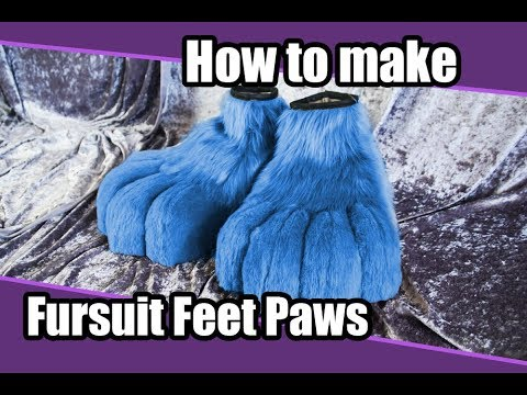 //Tutorial #2// Feet paws for Fursuit & Cosplay + PDF Pattern