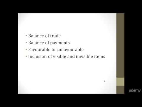 018 Difference between balance of payment and balance of trade | Basics of Economics For Beginners