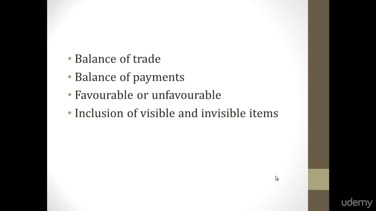 what is favourable balance of payment