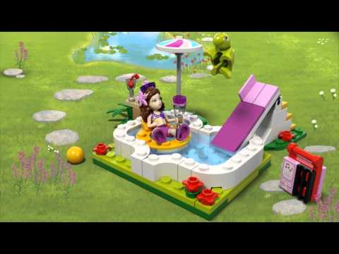 Lego friends olivia 39 s garden pool 41090 at toys r us uk for Lego friends olivia s garden pool 41090