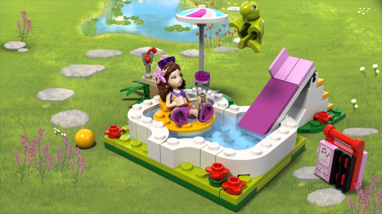 Lego Friends Olivias Garden Pool 41090 At Toys R Us Uk Youtube