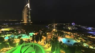 Burj Al Arab  - Jumeirah Beach Hotel - Lichtspiel - gopro 4k