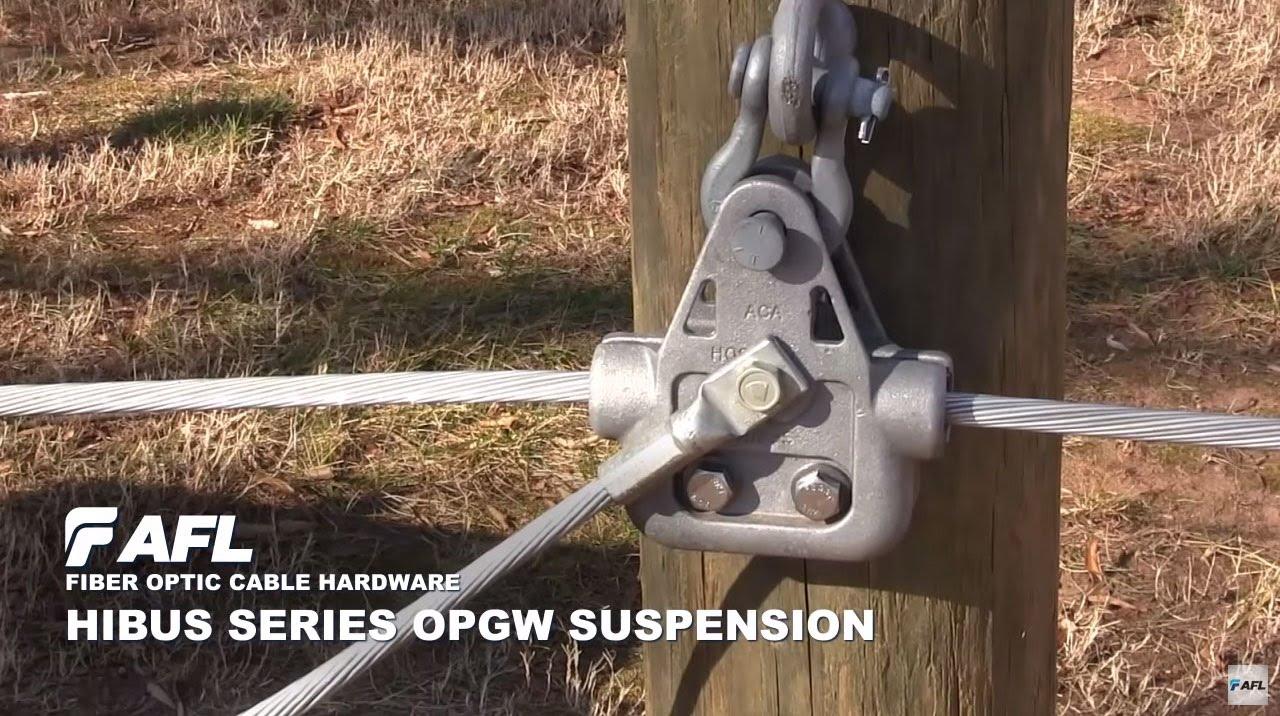 AFL Hibus Series OPGW Suspension Installation - YouTube