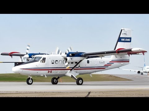 NRC/ CNRC De Havilland Canada Dash- 6 Twin Otter (DHC6) departing & arriving in Ottawa