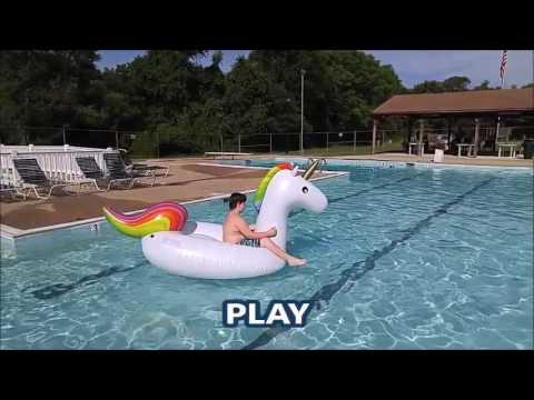 Large Inflatable Unicorn Pool Float Youtube