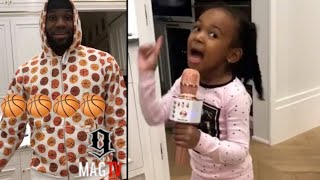 Lebron James Daughter Zhuri Kicks Him Out Of Her Room!
