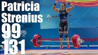 Patricia Strenius (68.6kg) Full Clean and Jerk warmup 20-131kg Clean and Jerk 2018 European Champion