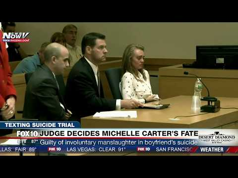 MUST WATCH: Judge Finds Michelle Carter GUILTY in Texting Suicide Case in Massachusetts