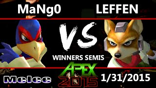 Apex 2015 - Leffen (Fox) Vs. Mango (Falco) - Winners Semis - SSBM