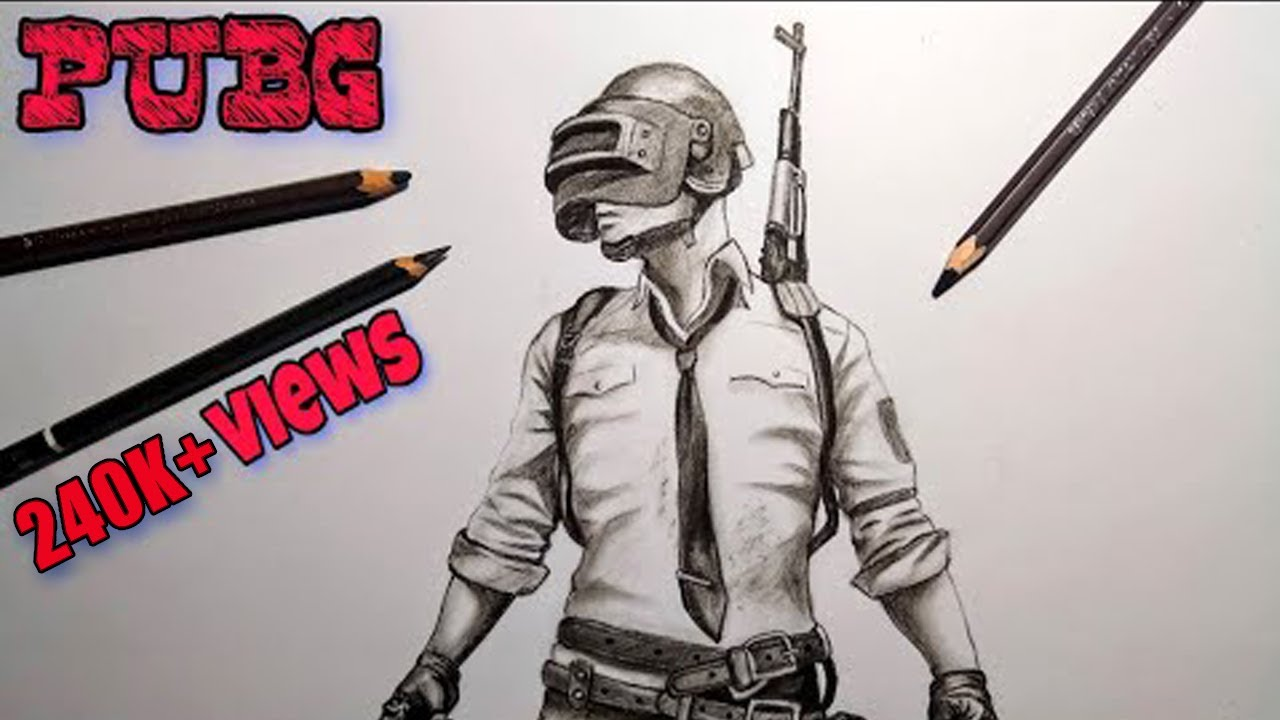 How To Draw Pubg Character Step By Step Youtube
