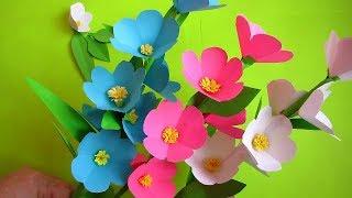 Paper Flower Stick.  DIY.  Paper Craft. Handcraft. DIY: How to Make Beautiful Paper Flower Stick