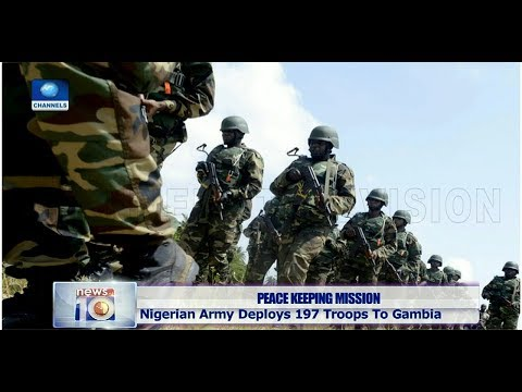 Nigerian Army Sends 197 Soldiers To Gambia For Peacekeeping Mission Pt.2 21/03/19 |News@10|