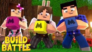 OS COELHOS MAIS FOFOS DO MUNDO! - Build Battle Feat Jazzghost (Minecraft 1.11)