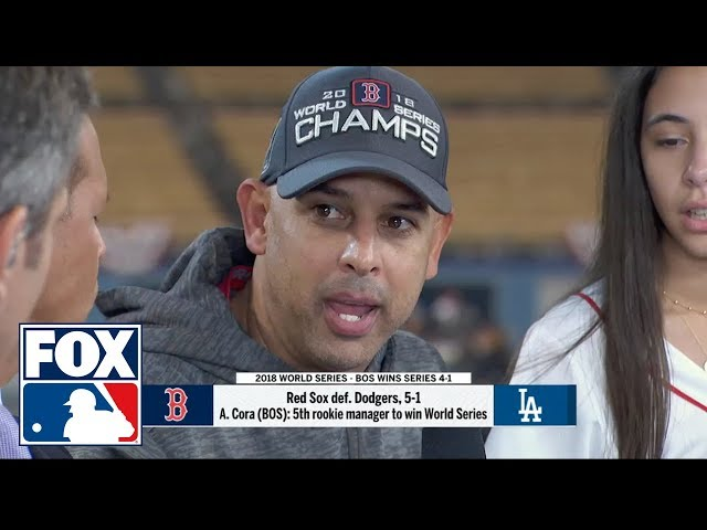 Red Sox Manager Alex Cora discusses winning the 2018 World Series | FOX MLB