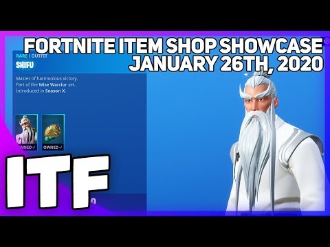 Fortnite Item Shop *NEW* HUGE ITEM SHOP! [January 26th, 2020] (Fortnite Battle Royale)