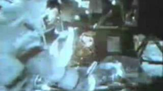 Moon Landing Hoax Apollo 17 : Objects Fall From The Fake Moon Bay Ceiling -Landing By The Astronauts