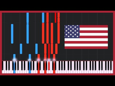 The Star-Spangled Banner - National Anthem of the USA [Piano Tutorial] (Synthesia)