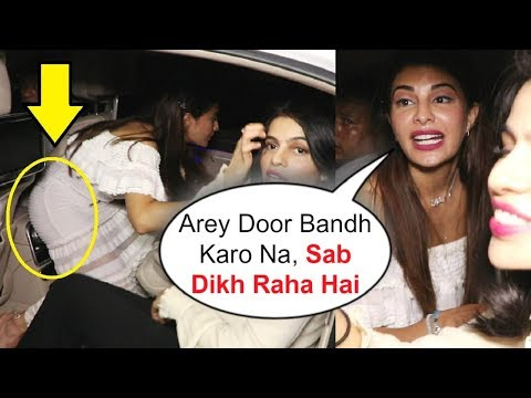 Jacqueline Fernandez Embarrassing Moment In Car After Race 3 Party