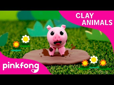 How to make a Pig with Clay | Clay Animals | DIY | Animal Songs | Pinkfong Clay Time