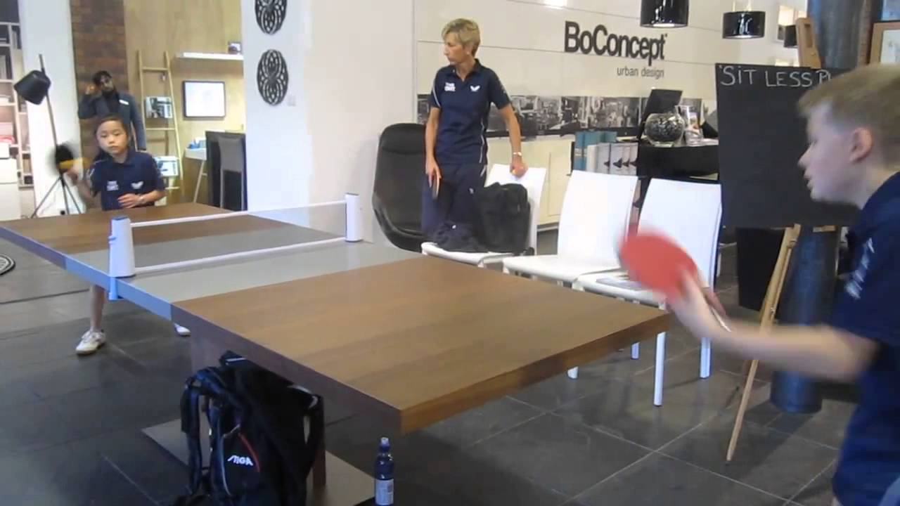 Bari Extendable Dining Table In BoConcept Sydney, Redbrick Mill, Yorkshire  With Table Tennis   YouTube