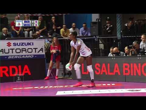 Pallavolo A1 femminile - Bergamo-Modena 1-3: highlights