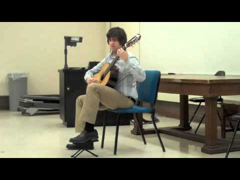 Josh Barrow performs the Sarabande from Bach's 3rd Cello Suite, BWV 1009