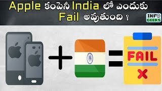 Why Apple is failing in India | Explained in Telugu | Info geeks