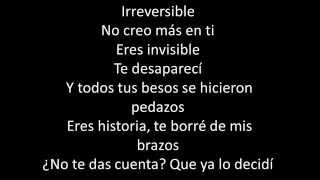 Irreversible letra