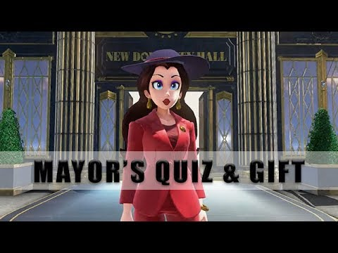 Metro Kingdom quiz and gift for Mayor, Super Mario Odyssey