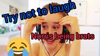 Try not to laugh. Norris nuts being brats for 2 minutes straight.