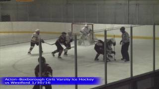 Acton Boxborough Girls Ice Hockey vs Westford 1/30/16