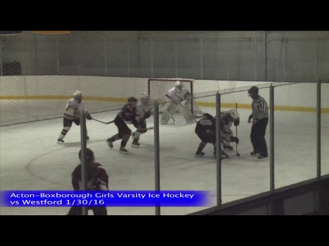 Acton Boxborough Girls Ice Hockey vs Westford 1/30/16