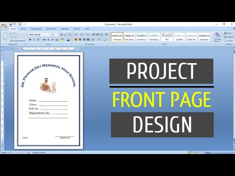 How to Create a Project Front Page or Cover Page Design in Microsoft Word
