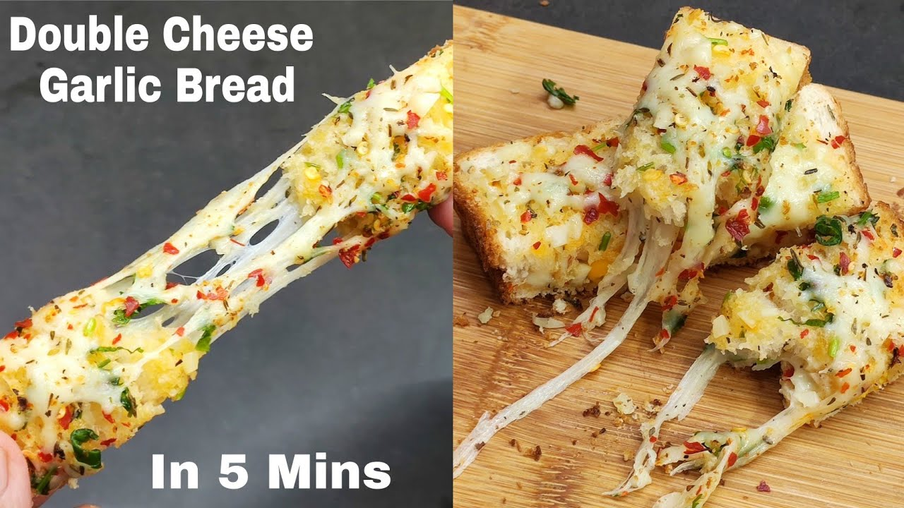 Double Cheese Garlic Bread In 10 Mins   Bristi Home Kitchen  #shorts