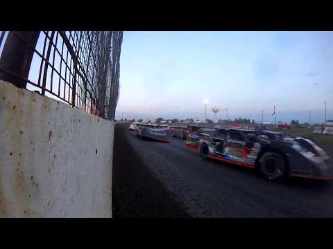 NLRA Late Models - 8-6-2017 - GoPro Wall CAM - Sheyenne River Speedway #Boneyard